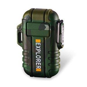 SANShine - Mechero electrónico de Doble Arco con batería de Plasma Recargable, Resistente al Viento, Impermeable y portátil, Ideal para Cigarrillos o Velas 11
