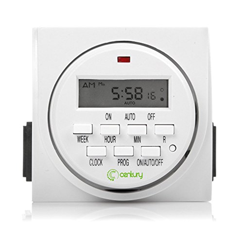 Century 7 Day Heavy Duty Digital Programmable Timer - Dual Outlet (Indoor)