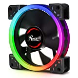 Rosewill 120mm RGB LED Case Fan (1-Pack), Ultra Quiet Cooling with Long Life Rifle Bearing, Dual Ring True RGB Color - RGBF-S12002