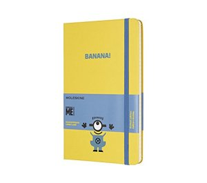 Moleskine Limited Edition Minions, Notebook, Large, Ruled, Sunflower Yellow (5 x 8.25) (EDITION LIMITEE)