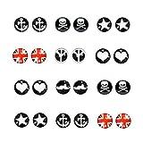 Spiritlele Multi Anchor Heart Tree Magnetic Earrings Set Star Skull Beard Non Piercing Earrings Pack