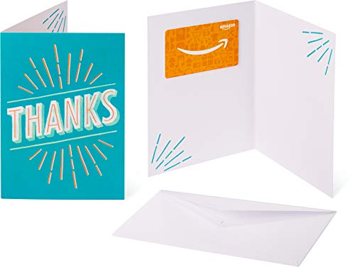 Amazon.com Gift Card in a Greeting Card - Thanks Design