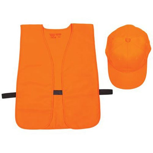 Orange Blaze Hat & Vest Combo - Adjustable Cap, One Size Fits All Vest