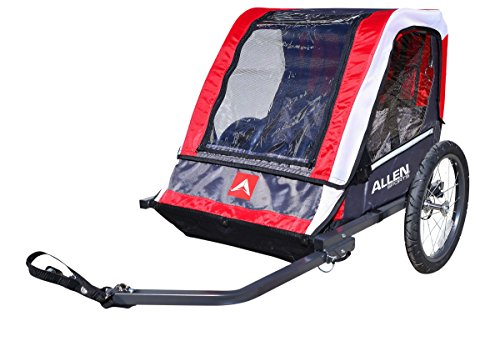 Allen Sports Deluxe 2-Child Steel Bicycle Trailer, Red