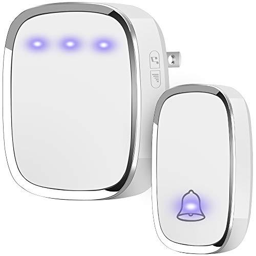 Anko Wireless Doorbell, Plug and Play Waterproof Door Bell Kit; 1000 Feet Operating Range; 36 Chimes Quality Sound; 4 Levels Adjustable Volume, Led Flash Indicator