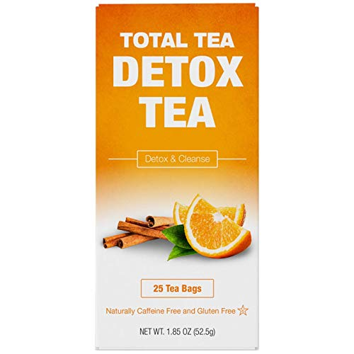 Total Tea Caffeine Free Detox Tea - All Natural - Slimming Herbal Tea for Gentle Cleansing - 25 Tea Bags 3