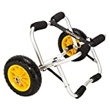 Bonnlo Universal Kayak Carrier - Trolley for Carrying Kayaks, Canoes, Paddleboards, Float Mats, and Jon Boats - Inflation-Free Solid Tires Wheel