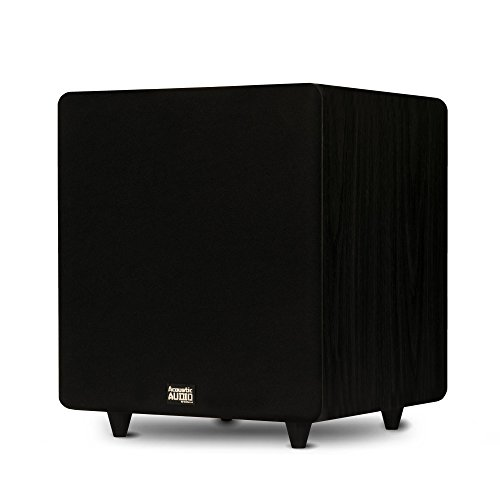Acoustic Audio PSW500-12 Home Theater Powered 12' LFE Subwoofer Black Front Firing Sub