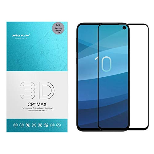 """41hnBHnBoBL - Nillkin Tempered Glass for Samsung Galaxy S10e S 10e (5.8"""" Inch) 3D CP+ Max Glass 0.1mm Thin Edge Shaterproof Full Screen Coverage Explosion Proof Screen Protect Black Color"""