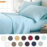 Mikash New Soft Hotel Collection Luxury Soft Brushed Bed Sheet Set, Hypoallergenic, Deep Pocket, Twin X-Large, Aqua   Style 84598998