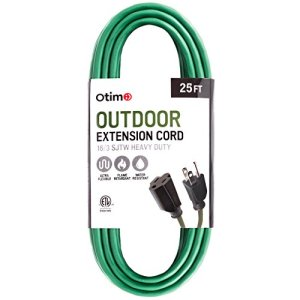 Otimo 16/3 Outdoor Heavy Duty Extension Cord – 3 Prong Extension Cord, Green