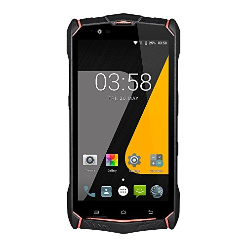 Rugged Phones Unlocked, Sudroid Jesy J9s 5.5 Inch 4G IP68 Waterproof Smartphones with Android 7.0 OS 6150Mah Battery (Black+Red)