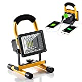 Hallomall [15W 24LED] Spotlights Work Lights Outdoor Camping Lights, Built-in Rechargeable Lithium Batteries (with USB Ports to Charge Mobile Devices and Special SOS Modes) …