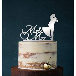 Cake Top decorazione in acrilico per torta da matrimonio