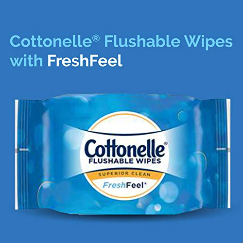 Cottonelle FreshCare Flushable Wipes for Adults, Wet Wipes, Alcohol Free, 336 Wet Wipes per Pack (Eight 42-Count Resealable Soft Packs) deal 50% off 41hzmjKGVHL