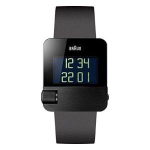 Braun Men's BN0106BKBKG Prestige Digital Digital Display Swiss Quartz Black Watch