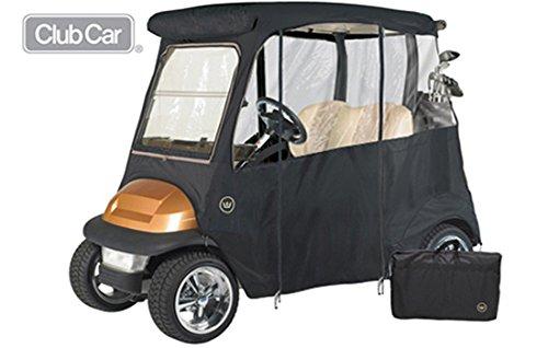 GreenLine Club Car Precedent 2 Passenger Drivable Golf Cart Enclosure - Jet Black