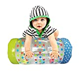 Ancaixin Inflatable Baby Jumbo Roller with Ball Drop Game for Crawling and Standing Exercise Non Toxic Roll&Crawl Toy for Over 6 Monthes Toddler
