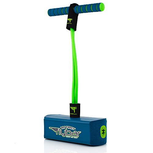 My First Flybar Foam Pogo Jumper For Kids Fun and Safe Pogo Stick For Toddlers, Durable Foam and Bungee Jumper For Ages 3 and up, Supports up To 250lbs (Blue)