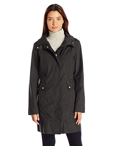 Cole Haan Women's Single Breasted Packable Rain Jacket with Removable Hood 1 Fashion Online Shop gifts for her gifts for him womens full figure