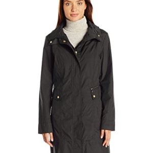 Cole Haan Women's Single Breasted Packable Rain Jacket with Removable Hood 20 Fashion Online Shop gifts for her gifts for him womens full figure