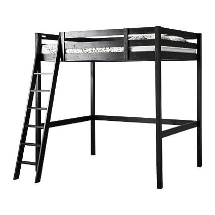 Amazoncom Ikea Fulldouble Size Loft Bed Frame Black