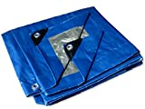 Hercules Tarp Shelter Cover Waterproof Tarpaulin Plastic Tarp Protection Sheet for Contractors, Campers, Painters, Farmers, Boats, Motorcycles, Hay Bales (-8x10)