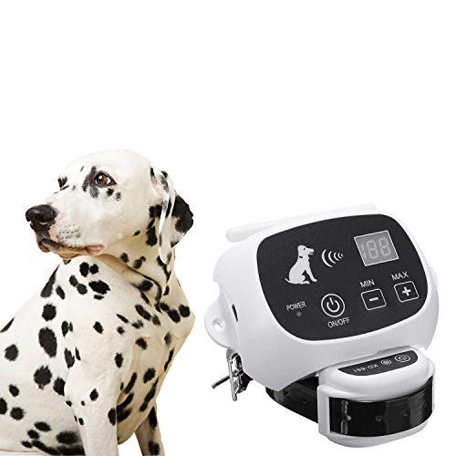 Qiaostore Wireless Dog Fence System Outdoor Electronic Fencing Device-550YD Remote Control for Dogs-Rechargeable Waterproof Receiver-Beep/Shock/Static Mode-No Wire, No Dig, No Bury