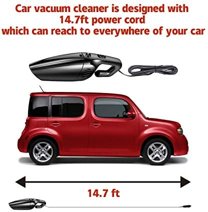 JUSTTOP Portable Car Vacuum Cleaner High Power 120W/7000Pa Corded Handheld Auto Accessories Kit for Detailing and Cleaning Car Interior 14