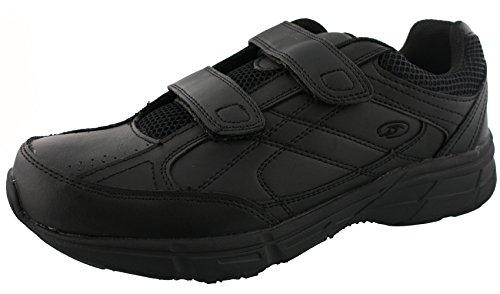 Dr. Scholl's - Men's Brisk Light Weight Dual Strap Sneaker, Wide Width (12 Wide, Black)