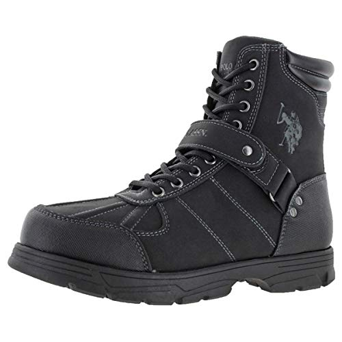 U.S. Polo Assn. Connor Men's Buckle Duck Toe Boots Black Size 10.5