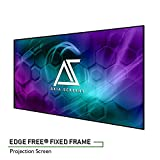 "Akia Screens 100"" Edge Free Fixed Projector Screen 100 inch Diagonal 16:9 Thin Edge Projection Screen 8K 4K Ultra HD 3D Ready Movie Theater Home Theater AK-NB100H1"
