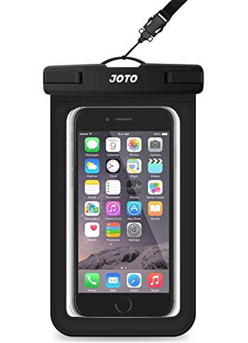 Universal Waterproof Case, JOTO CellPhone Dry Bag Pouch for Apple iPhone 6S, 6, 6S Plus, SE, 5S, Samsung Galaxy S7, S6 Note 7 5, HTC LG Sony Nokia Motorola up to 6.0' diagonal -Black