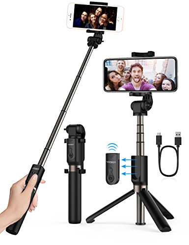 Yoozon Selfie Stick Bluetooth, Extendable Selfie Stick with Wireless Remote and Tripod Stand Selfie Stick for iPhone X /iPhone 8 /8 Plus/iPhone 7/iPhone 7 Plus/Galaxy Note 8/S8 /S8 Plus/Google More
