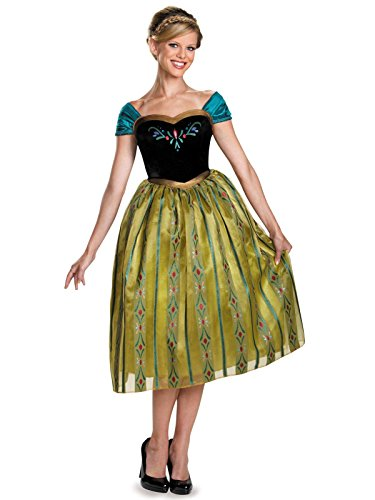 Disguise Women's Anna Coronation Deluxe Adult Costume, Multi, Small (4-6)
