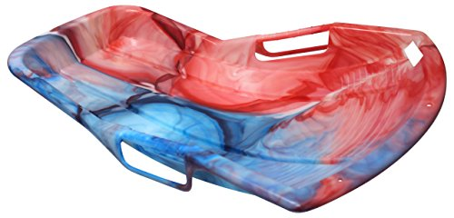 "ESP 37"" Dayglow Sno Sprint Racer Sled – Unique Tie Dye Design – Bright Neon Colors Glow in Sunlit Snow"