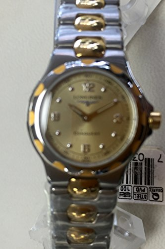 41iRctktg0L •Gold tone and stainless steel case and bracelet Fix bezel