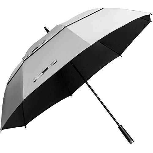 G4Free 62/68inch UV Protection Golf Umbrella Auto Open Vented Double Canopy Oversize Extra Large Windproof Sun Rain Umbrellas