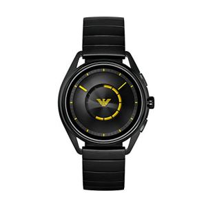Emporio Armani Men's Stainless Steel Plated Touchscreen Smartwatch, Color: Black (Model: ART5010)