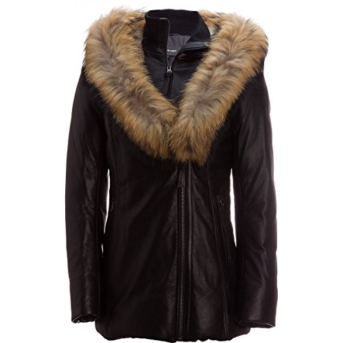 61L2%2BT5MBeL Material: [face fabric] 100% lamb leather, [lining] 100% nylon, [trim] raccoon, rabbit fur Insulation: 90% duck down, 10% feathers Fit: regular