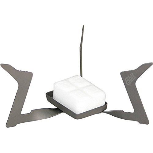 Esbit 11.5g (0.4 Ounce) Ultralight Folding Titanium Stove for Use with Solid Fuel Tablets