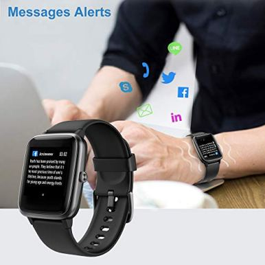Willful-Smart-Watch-for-Android-Phones-and-iOS-Phones-Compatible-iPhone-Samsung-IP68-Swimming-Waterproof-Smartwatch-Fitness-Tracker-Fitness-Watch-Heart-Rate-Monitor-Smart-Watches-for-Men-Women-Black