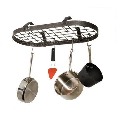 Low-Ceiling-Oval-Hanging-Pot-Rack