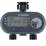 Gideon Dual Digital Valve Water Hose Irrigation Sprinkler Controller System with Automatic Timer - Battery Powered