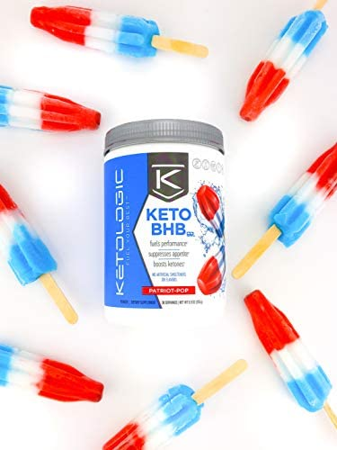KetoLogic Keto BHB Exogenous Ketones Powder Supplement: Patriot Pop (60 Servings) - Boosts Ketosis, Increases Energy & Focus, Suppresses Appetite – Supports Keto Diet & Weight Management 5
