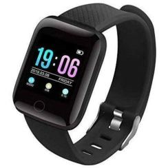 Cospex [Today Only Sale] D116 Touchscreen Smart Watch Bluetooth Smartwatch with Heart Rate Sensor and Basic Functionality for All Boys & Girls