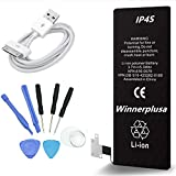 Winnerplusa Battery for iPhone 4s 3in1