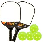 Rally Tyro 2 Pickleball Paddle by PickleballCentral | Advanced Composite PolyPropylene Honeycomb Core and Fiberglass Face | Lightweight | Racket or Pickleball Set Options with Paddles and Balls