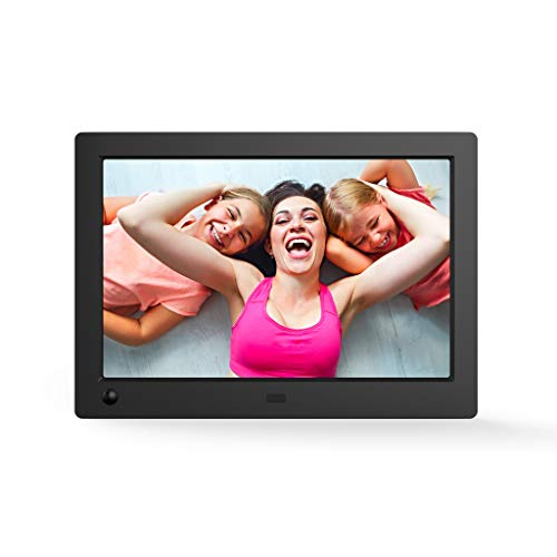 NIX X08G Advance 8' Widescreen Hi-Res Digital Photo & HD Video Frame with Hu-Motion Sensor, Black
