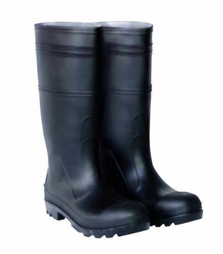 CLC Rain Wear R23009 Over The Sock Black PVC Men's Rain Boot, Size 9